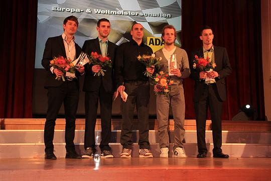 Ehrung mit den ISDE Medallien ( v.l. Marcel Teucher, Kenny Lötzsch, Morris Schneider, Daniel Hänel, Andre Decker )