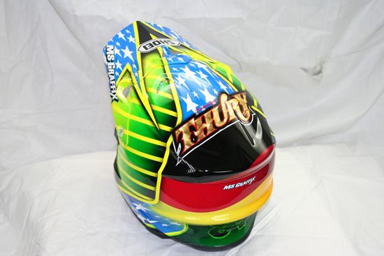 Der Helm von DOMINIQUE PASCAL THURY.