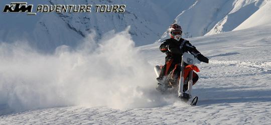 KTM Adventure Tours hat eine SnowBike Tour im Programm!