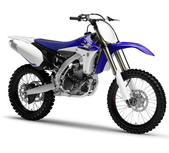 Die YZ450F in den Farben blau - weis.