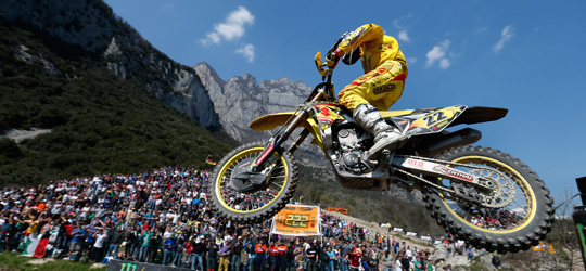 Kevin Strijbos beim MX1 Weltmeisterschaftlauf in Trentino/ Italien.