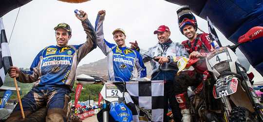 Die Sieger 2013: 1. Graham Jarvis (UK/Husaberg), 2. Andreas Lettenbichler (GER/Husqvarna), 3. Alfredo Gomez Cantero (ESP/Husaberg)
