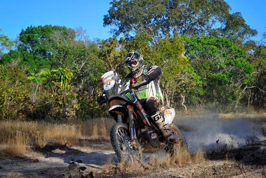 Paulo Goncalves und seine Speedbrain 450 R.