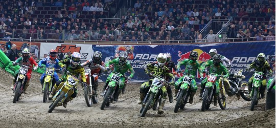 31. ADAC Supercross Dortmund 2014 (2014-01-11): Start SX 2. Foto: Jan Brucke