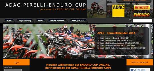 Der ADAC-PIRELLI-ENDURO-CUP (APEC) veröffentlicht die Termine 2014