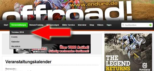 Alle Enduro-Veranstaltungen 2014 in der Übersicht.