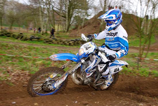 Marc Neumann in Aktion mit seiner italienischen Moto-TM.