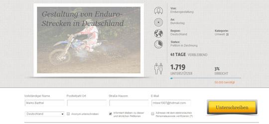 Stimmt für mehr Enduro-Strecken in Deutschland