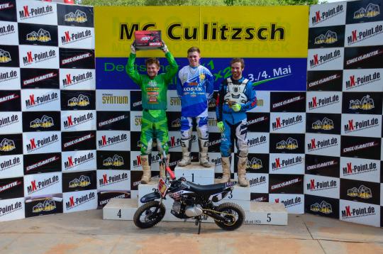 Podium Shootout Race v.l. Carsten Stark, Marko König und Kevin Lindner