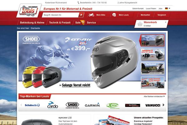 Neue Webseite mit vielen neuen Funktionen bei Louis.de.