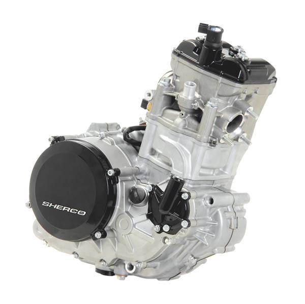 Der komplett neu entwickelte 450er  Motor mit Synerject-Einspritzung.