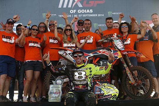 Cairoli hat es erneut geschafft - auch 2014 krönt er sich zum schnellsten MX-Piloten