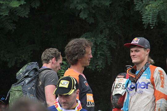 Wade Young ( rechts ) mit Unterstützer und Förderer Holger Dettmann ( Links )