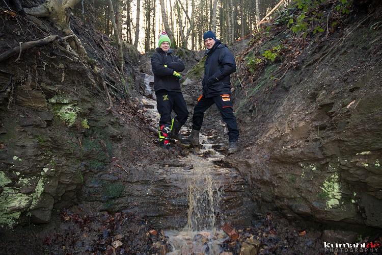 Eddie Findling und Marcus Kehr beim ablaufen der Strecke ( Foto: www.kumant.de )