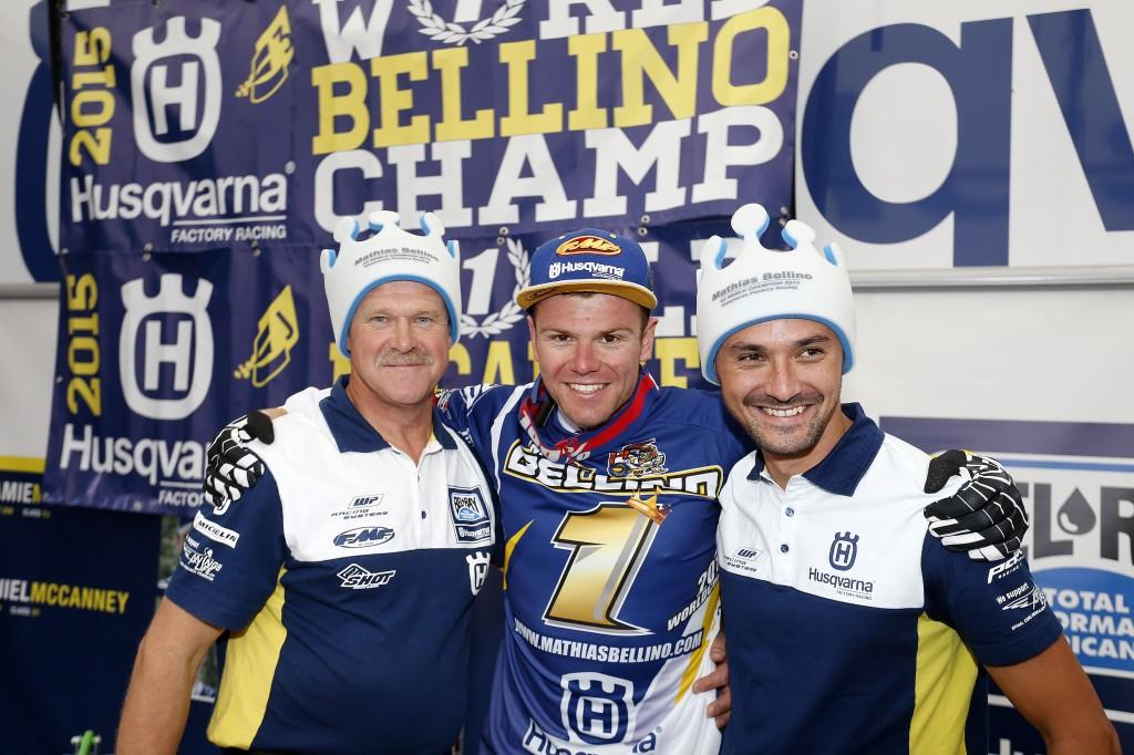Mathias BELLINO feierte seinen WM-Titel ausgelassen