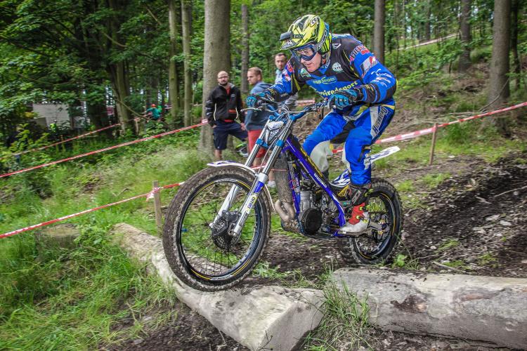 Mit einen Trialer am Start war Dietmar Wolf