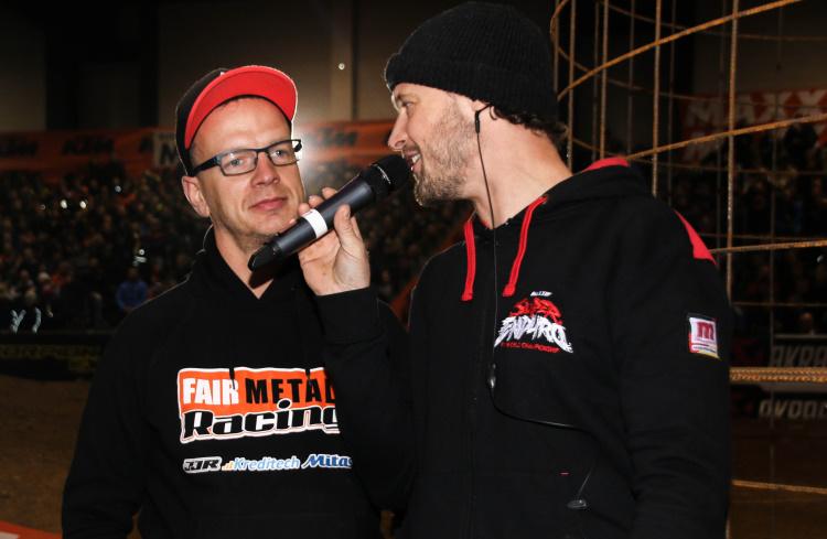 Holger Dettmann ( links ) ist für den Prolog zuständig