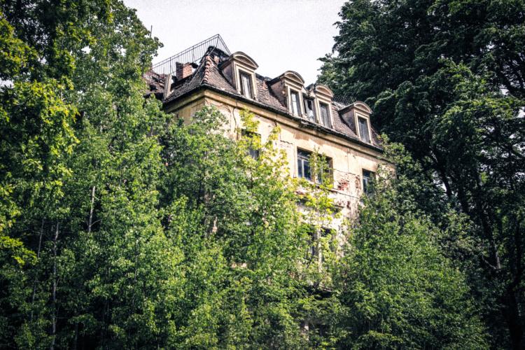 Ort des Geschehen am ehemaligen Kurheilbad - Augustusbad