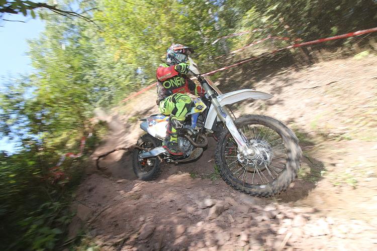 Felix Bräuer zog mit der Motocross KTM im Gelände die Blicke auf sich