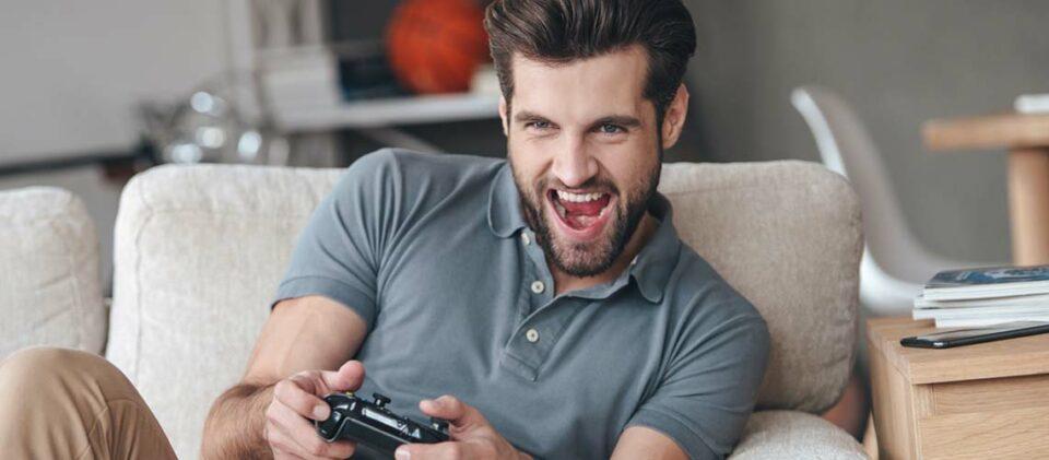 Gamer in Aktion